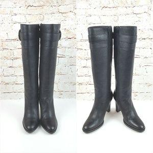 BANANA REPUBLIC|Black Leather Heeled Boots Sz 7.5
